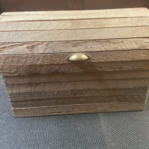 Decor Large Wooden Trunk / Chest with Rope Handles chest