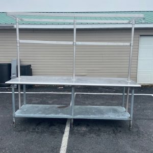 BUSINESS COMMERCIAL EQUIPMENT Stainless Steel Table with Attached Pot Rack commercial stainless