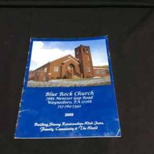YEARBOOKS 2009 Blue Rock Church Directory, Waynesboro, PA [tag]