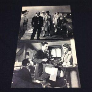 PHOTOGRAPHS 2 Casablanca Humphrey Bogart Ingrid Claude photo prints 8×10 Black & White [tag]